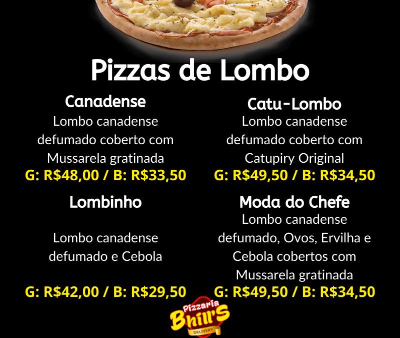 Pizzas de Lombo
